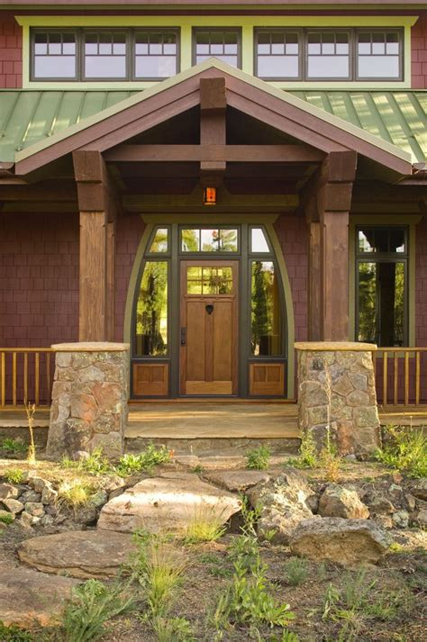 beam x front of house post and beam front entry entry rustic with glass doors