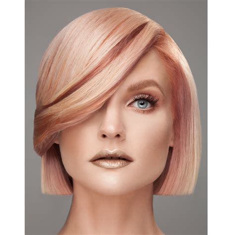 rose gold hair pravana multi dimensional rose gold behindthechair com