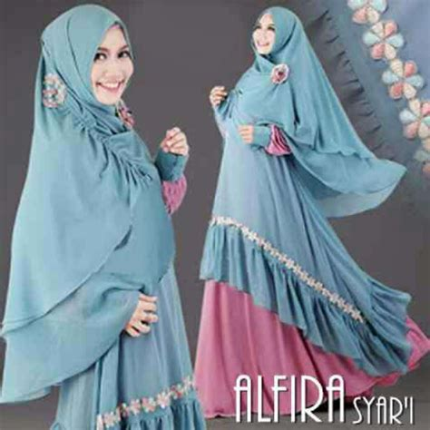 Syari Pelangi Tosca Al144 baju gamis warna biru newdirections us
