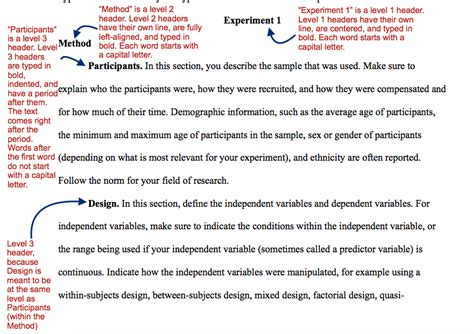 apa style methods section teaching apa style an apa template paper the learning