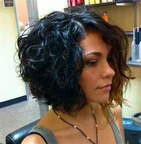 stacked curls curly bob bobs and graduation on pinterest