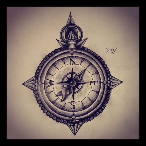 black and grey compass tattoo 30 latest compass tattoo designs