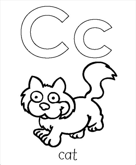 coloring pages of letter c letter c coloring pages printable coloring home