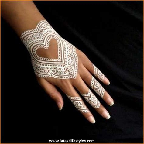 beautiful white henna tattoos for hands life with style
