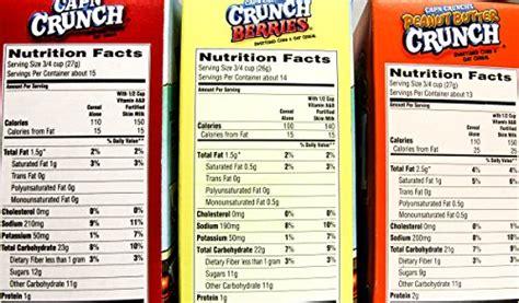 captain nutrition information peanut butter captain crunch nutrition