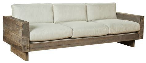modern wooden sofa farmhouse sofa reclaimed cedar 4x4 sofa simple linen fabric upholstery reclaimed