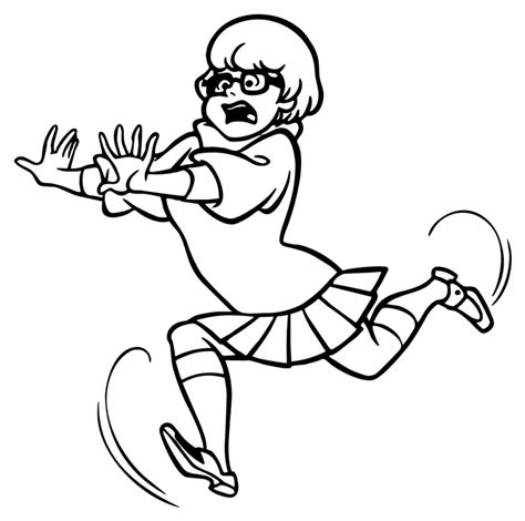 Free Coloring Scooby Doo Quot Velma Quot For Kids Scooby Doo Coloring Pages