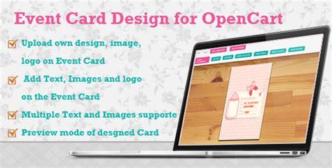 design event card codeinterest event card design for opencart