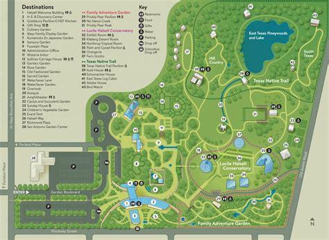 garden map san antonio botanical garden