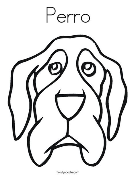 coloring pages of dog head perro coloring page twisty noodle