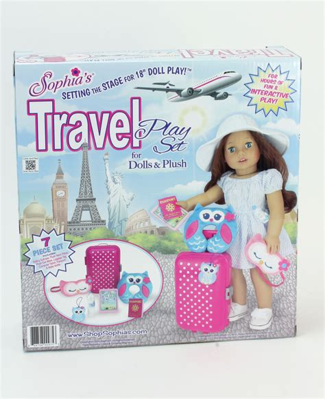 Mainan Anak Fruits Supermarket The Suitcase Play Set Koper Anak galleon doll travel play set by s 7 doll accessory luggage set for your favorite