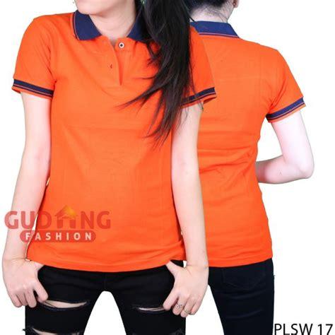 Kaos Polo Biru Donker Cotton Pique 20s Size L polo shirts simple wanita cotton pique orange kerah biru dongker plsw 17 gudang fashion