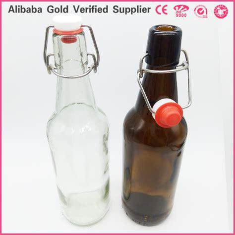 16 oz glass swing top bottles 16 oz glass home making kombucha tea glass bottle with