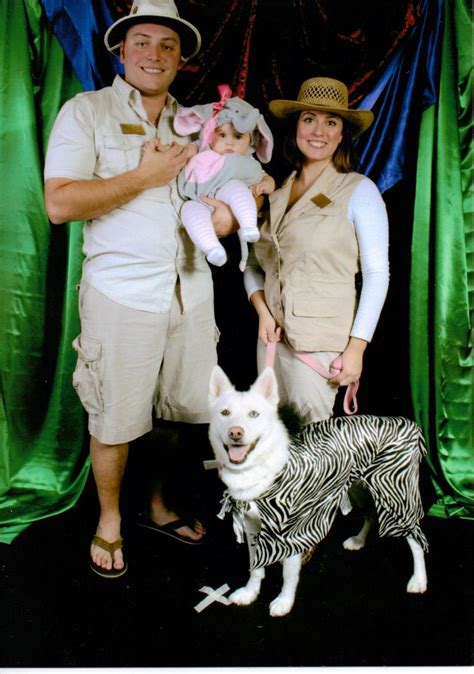 costumes with dogs family costume with zoo keepers or safari decor