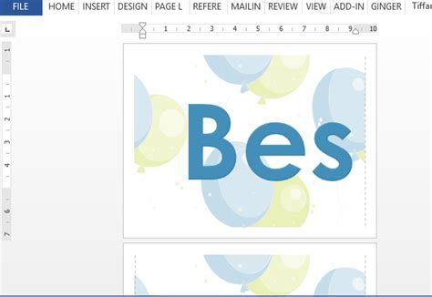 design banner using microsoft word how to create best wishes banner using ms word
