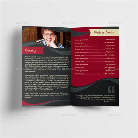 funeral program brochure template 05 by creativesource