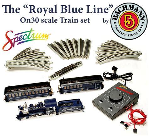 mamanda set nadhif royal blue line spectrum 25212 on30 royal blue line set by bachmann