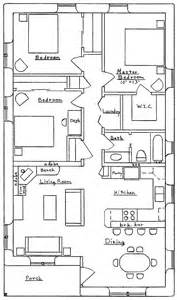 3 Feet Plan by 3 Bedroom Traditional Earthbag House Plans