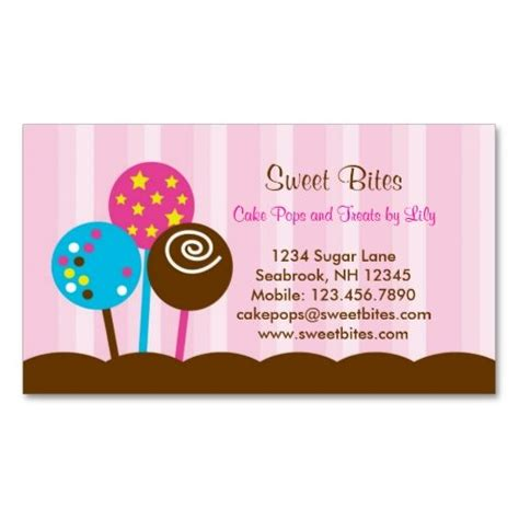 Cake Decorating Business Name Ideas 17 best images about bakery business cards on