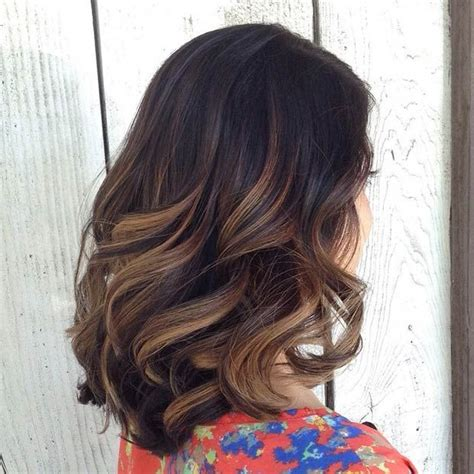 balayage dark brown hair with blonde highlights 60 balayage hair color ideas with blonde brown caramel