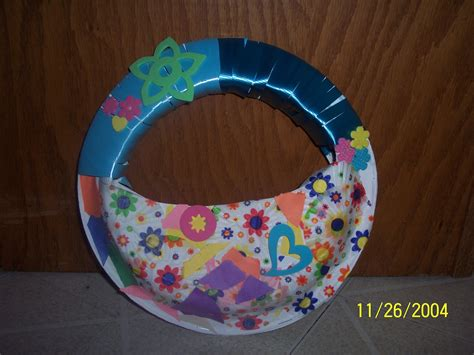 Paper Plate Easter Basket Craft - kid s basket craft claiming creativity