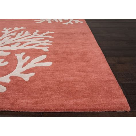 orange modern rugs jaipur rugs modern coastal pattern orange ivory wool area rug cos02 r rugmethod
