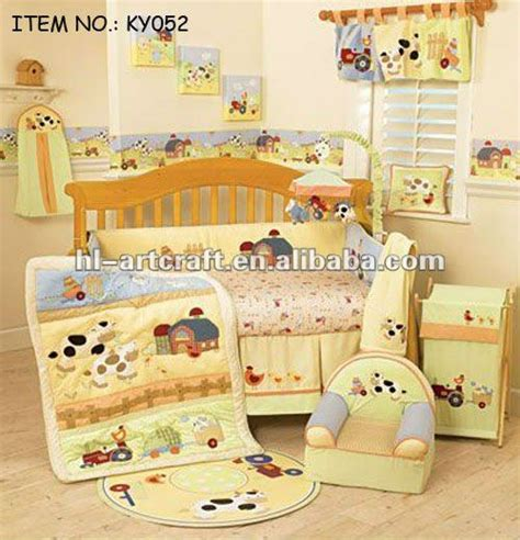 farm nursery bedding brown tigher applique patchwork baby quilt patters buy