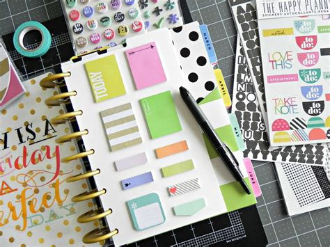 When Do You Take The Decorations by How Do You Use The Happy Planner Sticky Notes Me