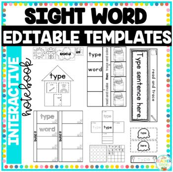 Free Editable Interactive Notebook Templates