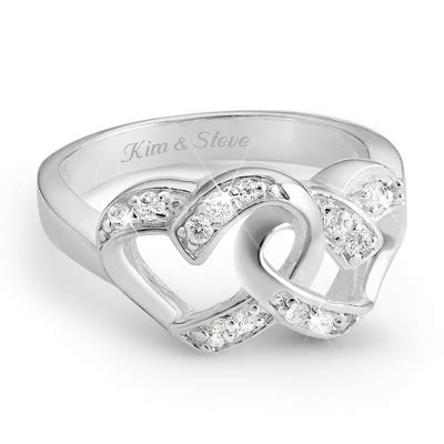 personalized sterling silver couples ring