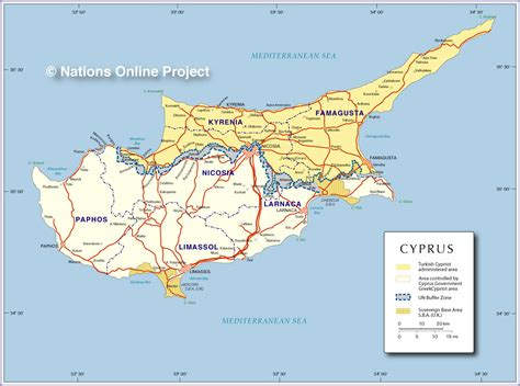 cyprus map political map of cyprus nations project
