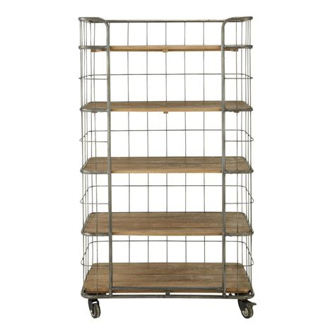 etagere gestell metal industrial shelf unit on castors w 93cm troly