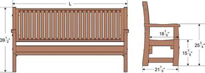 bench size wood bench with wave design seat slats forever redwood