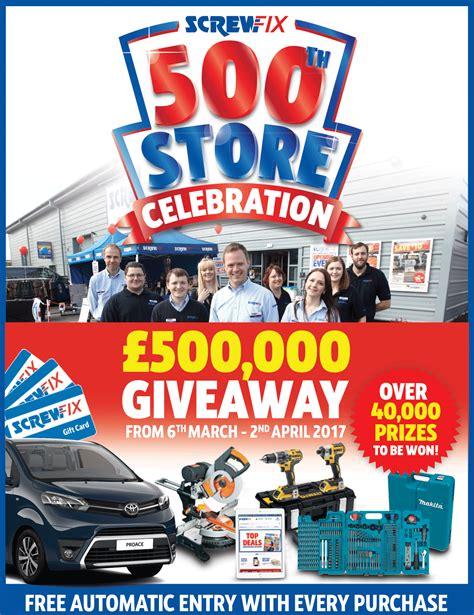 screwfix black friday 500th store screwfix website