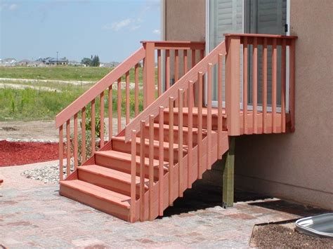 pin deck stair railing on