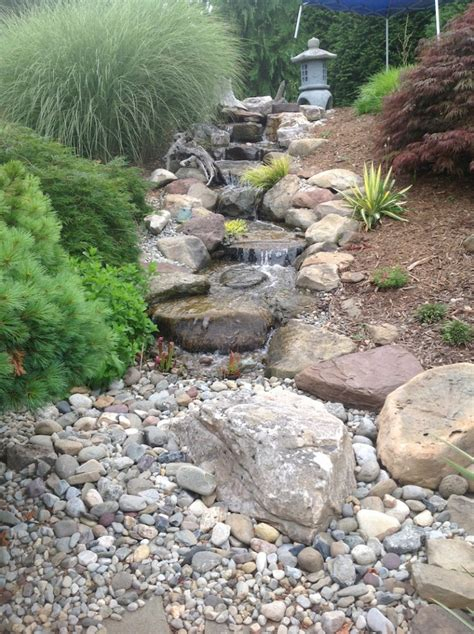 backyard pondless waterfalls backyard pond landscape ideas the pond doctor