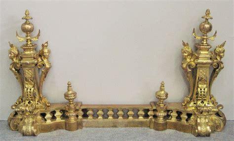 chenets cheminee chen 234 ts en bronze dor 233 napol 233 on iii chenets accessoires