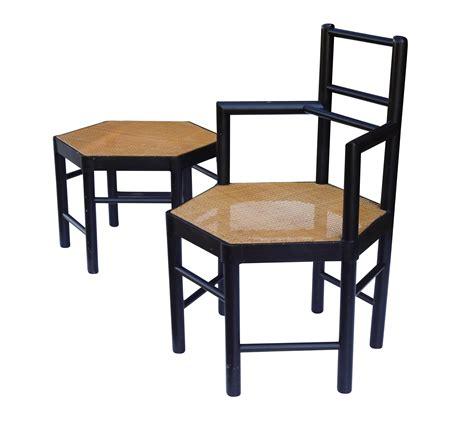 josef hoffmann chair josef hoffmann style hexagonal chair ottoman set chairish