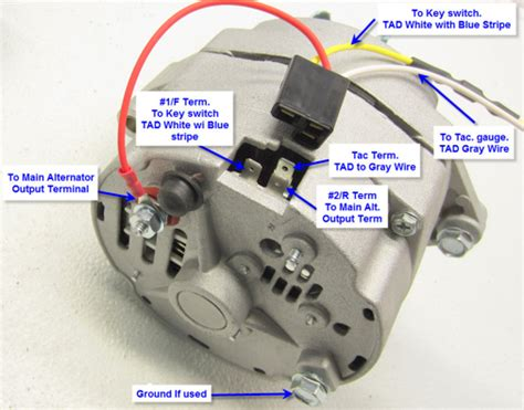 3 wire wiring diagram delco high output alternator auto