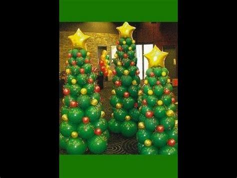 hacer un 225 rbol de navidad con globos manualidades para