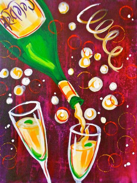 paint nite new years 1220 best canvas painting images on acrylic