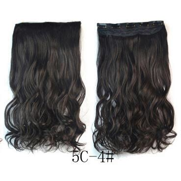Hair Extension Clip Wig Rambut Palsu 4a 1 hair extension clip wig rambut palsu 4a black