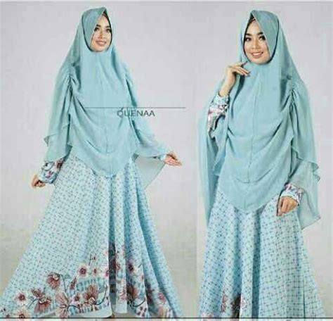 Baju Muslim Dress Gamis Khimar Syari Abstrack Syari baju muslim motif terbaru quenaa syar i