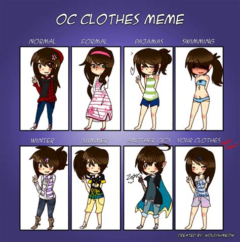 Clothes Meme - layla s closet oc clothes meme by snickiett on deviantart