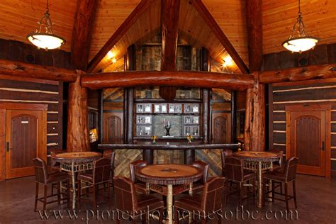 Cabin Pub by Bars And Rooms Log Home And Cabin Interiors Pioneer Log Homes Of Bc