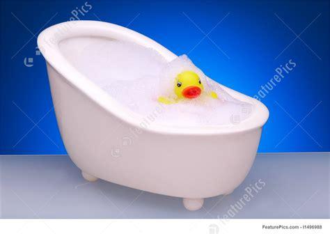 Rubber duck in bubble bath picture