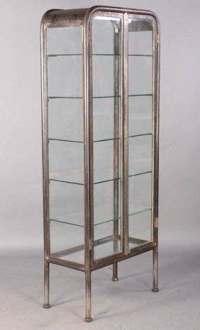 Vitrine Metall Glas vintage metal glass vitrine c 1920 lot 102 credenzas