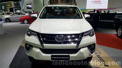 toyota motors india 2016 toyota fortuner front at 2015 thailand motor expo