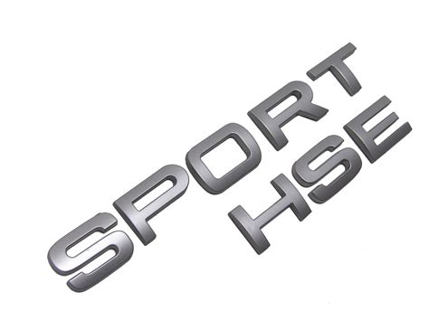 Silver Sport Hse Letters For Range Rover Supercharged Tailgate Badge Logo Decal Ebay Range Rover Sport Lettering Template