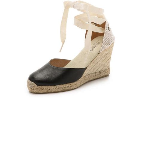 Wedges Fashion Import 110 soludos leather wedge espadrilles 110 liked on polyvore